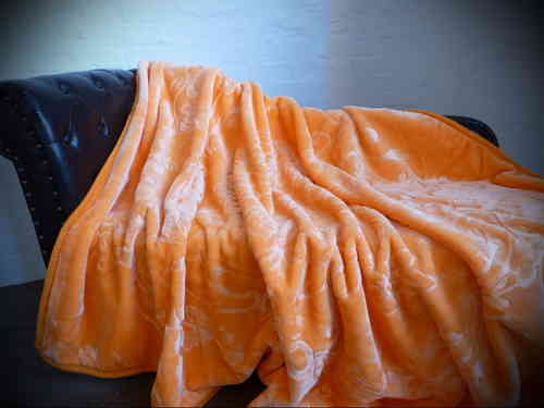 Luxus Kuscheldecke orange