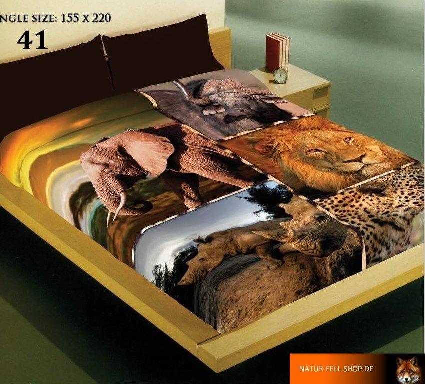 kuscheldecke mit 3d effekt motiv afrika 155x200cm natur fell shop. Black Bedroom Furniture Sets. Home Design Ideas