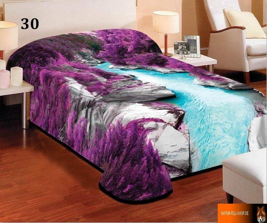 kuscheldecke mit 3d effekt motiv gebirgsbach 155x200cm natur fell shop. Black Bedroom Furniture Sets. Home Design Ideas